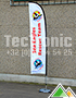 Bedrukte medium beachflag Sea Eagles Rescue Team