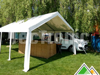 Professionele pvc partytent 4x6 in kleur wit - Catering 27