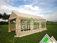 Partytent 5x10 PVC basic in beige of wit