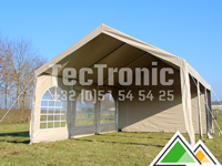 Professionele pvc 50 mm partytent 6x12 in wit of beige