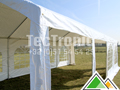 Professionele partytent 6x12 in wit pvc
