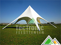Starshade 12 m in wit PVC 580gr